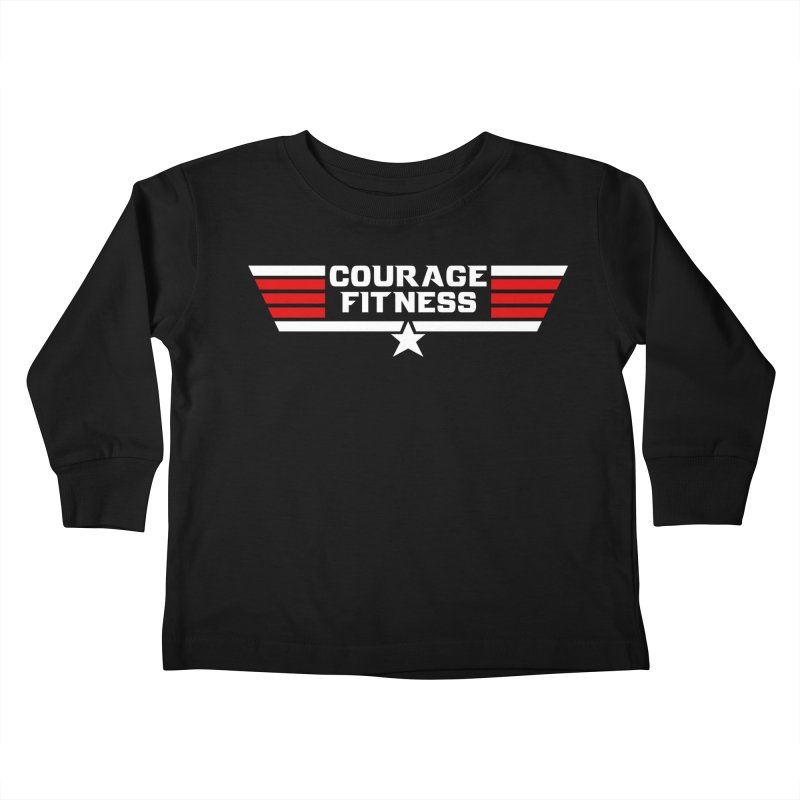 Top Gun Kids Toddler Longsleeve T-Shirt by Courage Fitness Durham