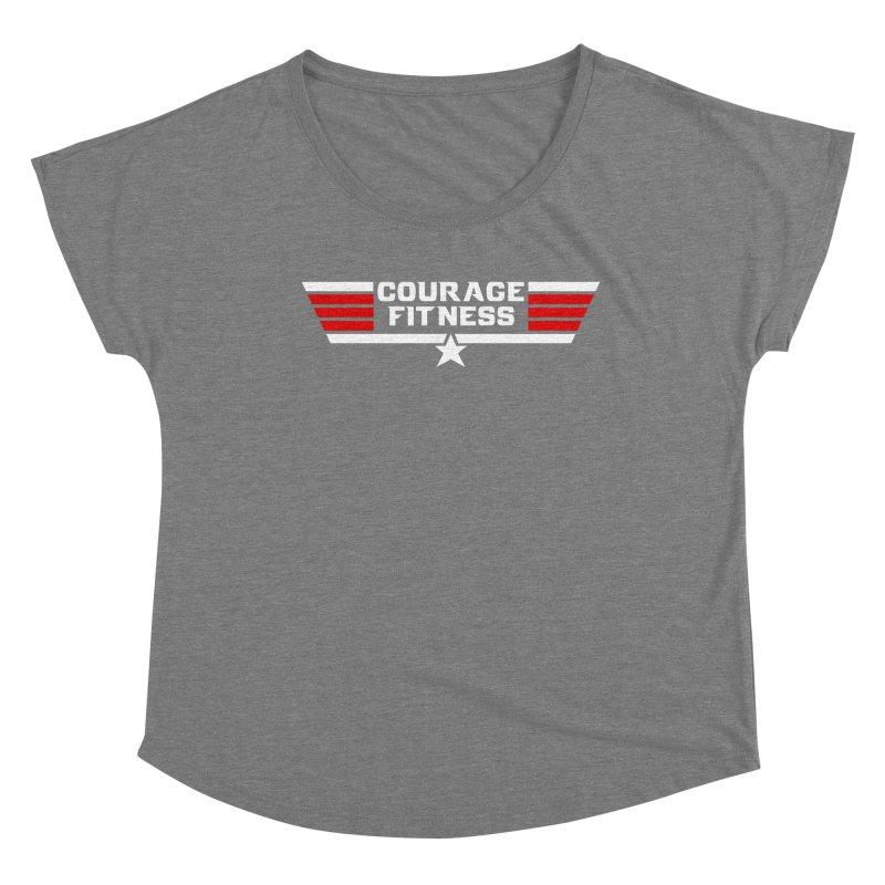 Top Gun Women's Scoop Neck by Courage Fitness Durham