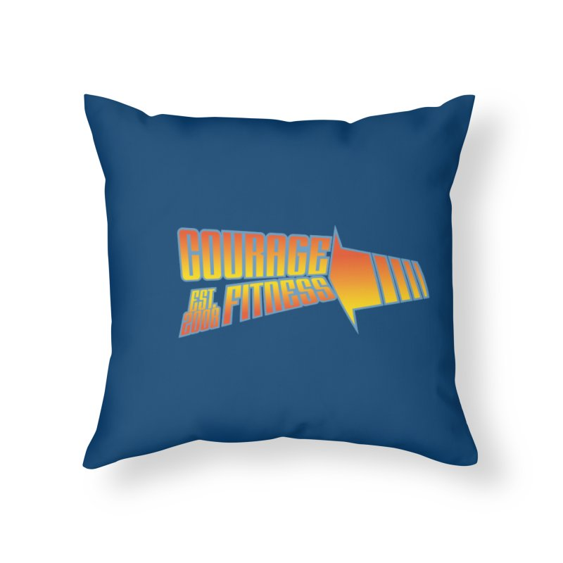 Back To The Future Home Throw Pillow by Courage Fitness Durham