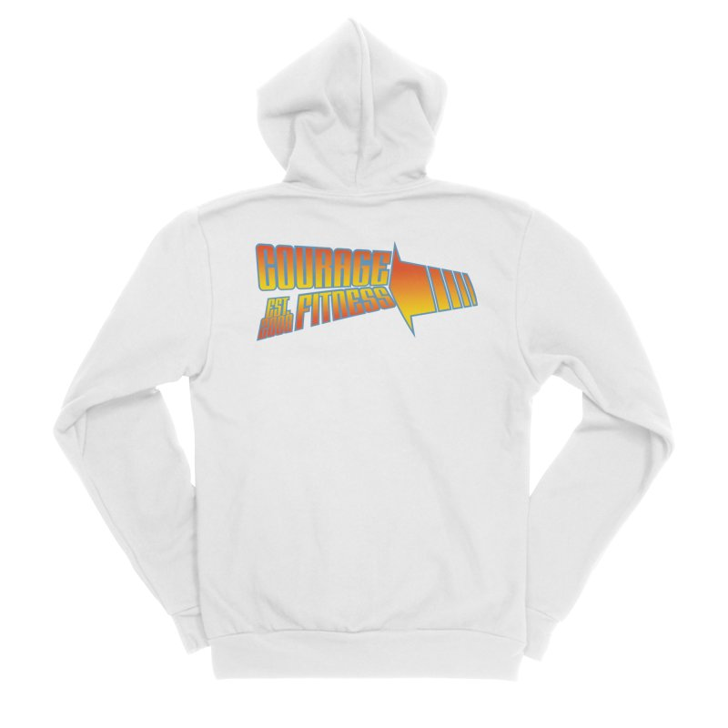 Back To The Future Women's Zip-Up Hoody by Courage Fitness Durham