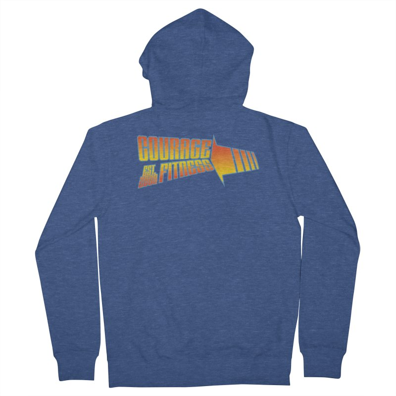 Back To The Future Men's Zip-Up Hoody by Courage Fitness Durham