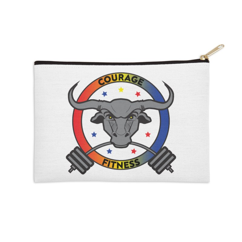 Courage Fitness Color Accessories Zip Pouch by Courage Fitness Durham