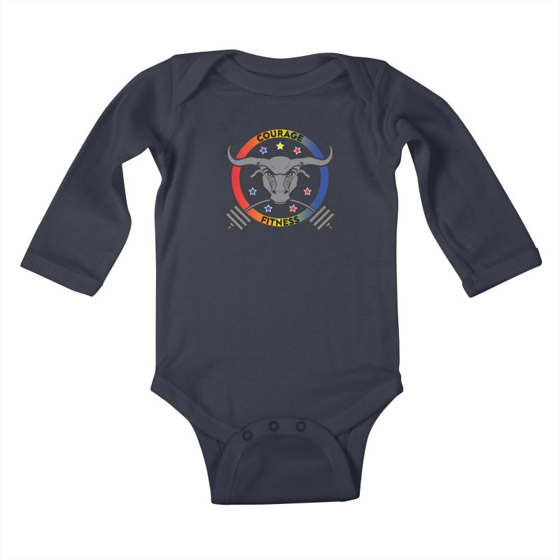 Courage Fitness Color Kids Baby Longsleeve Bodysuit by Courage Fitness Durham