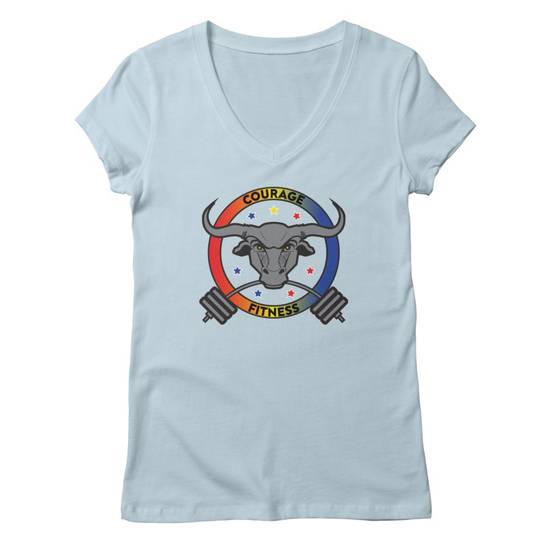 Courage Fitness Color Women's V-Neck by Courage Fitness Durham