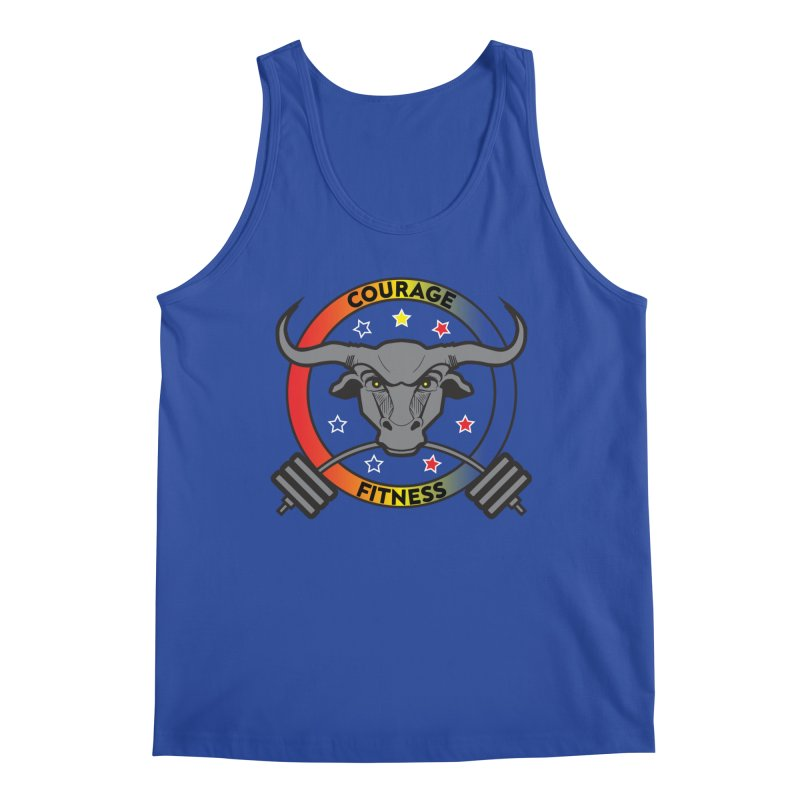 Courage Fitness Color Men's Tank by Courage Fitness Durham