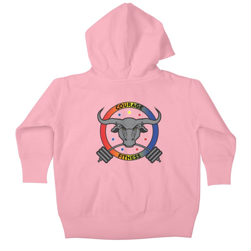Courage Fitness Color Kids Baby Zip-Up Hoody by Courage Fitness Durham