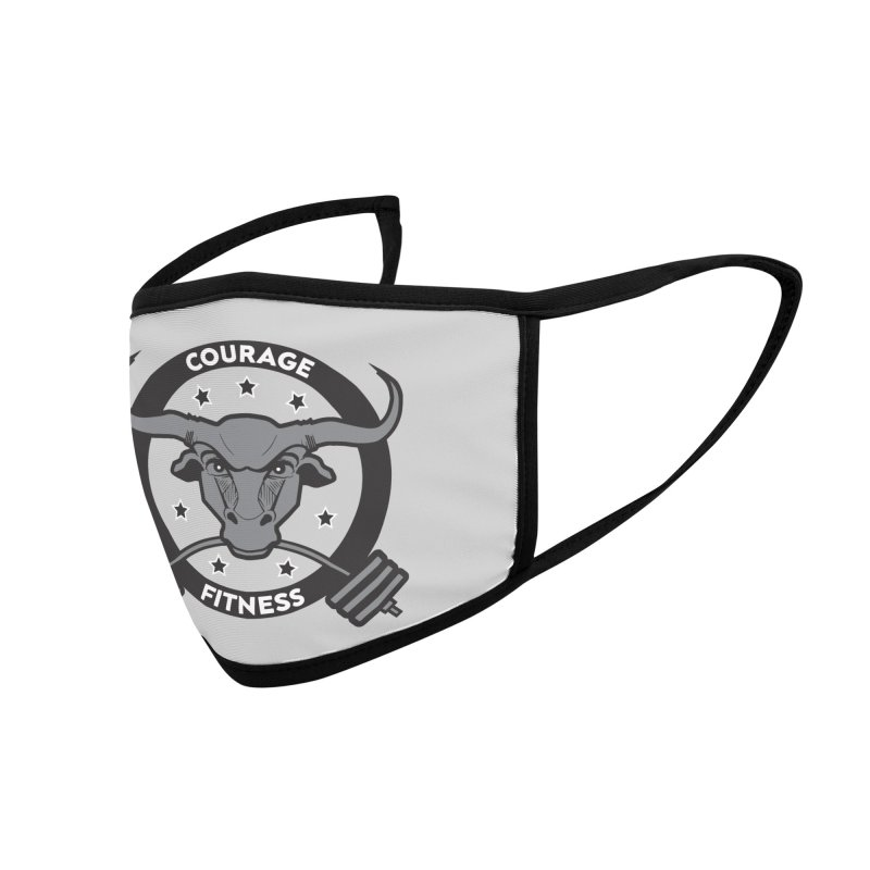 Courage Fitness B&W Accessories Face Mask by Courage Fitness Durham