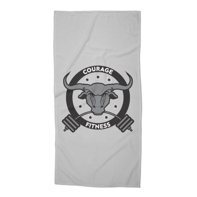 Courage Fitness B&W Accessories Beach Towel by Courage Fitness Durham