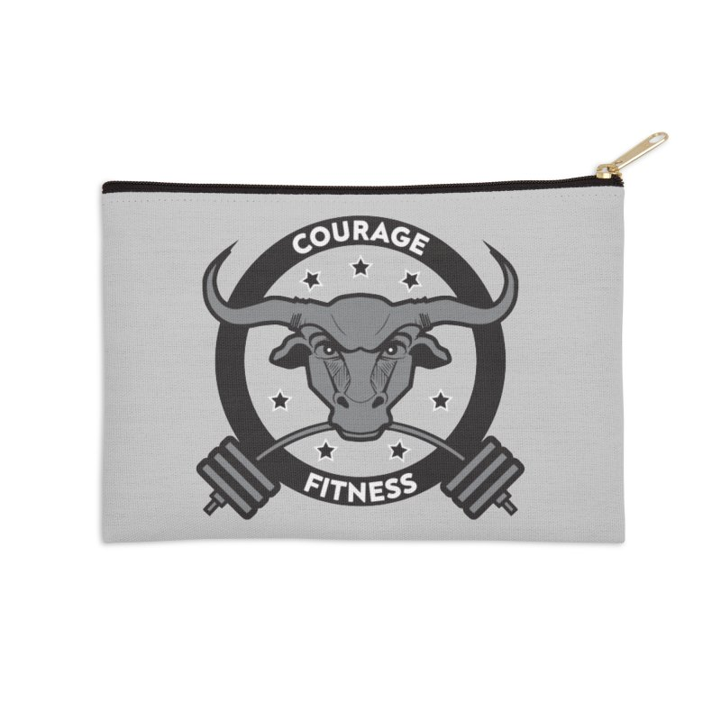 Courage Fitness B&W Accessories Zip Pouch by Courage Fitness Durham