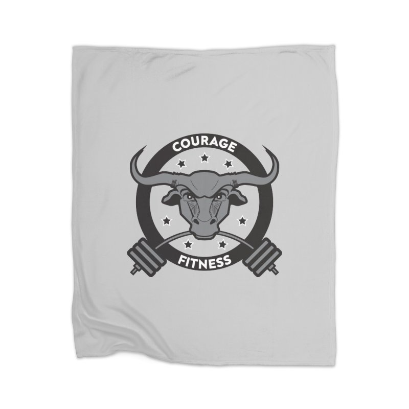 Courage Fitness B&W Home Blanket by Courage Fitness Durham