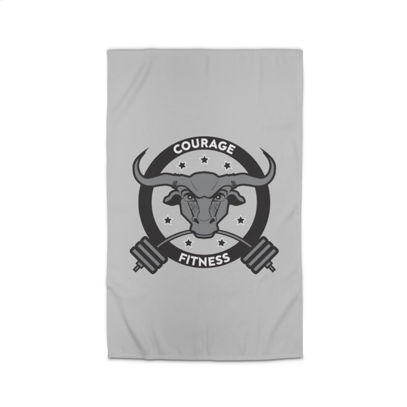 Courage Fitness B&W Home Rug by Courage Fitness Durham