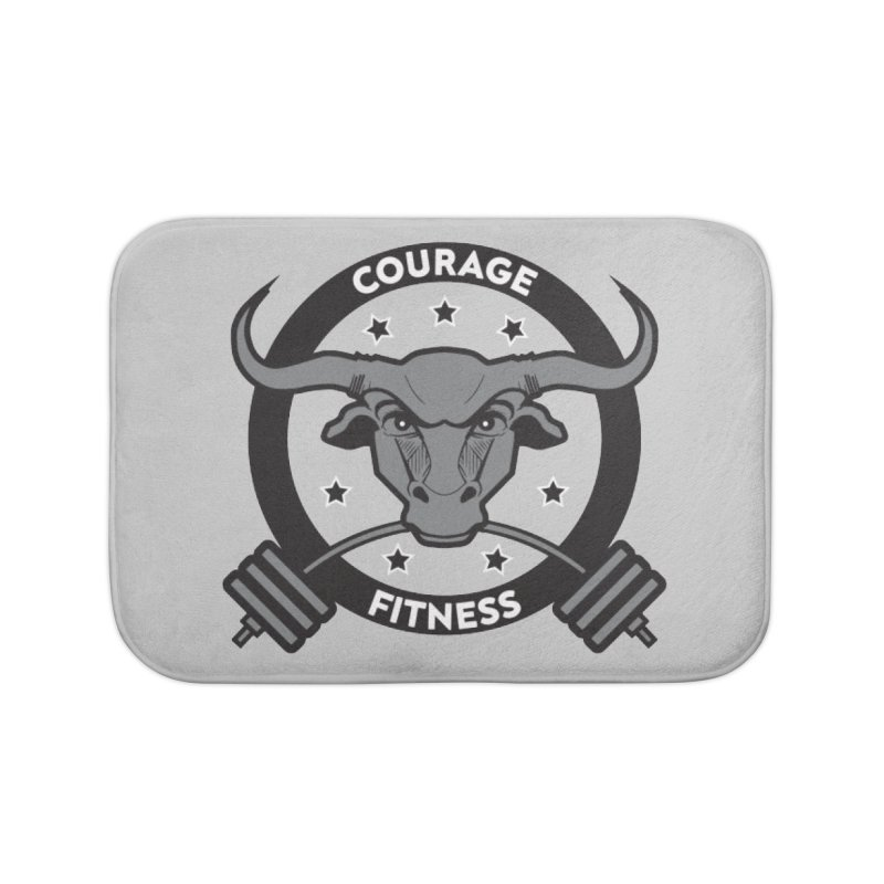 Courage Fitness B&W Home Bath Mat by Courage Fitness Durham