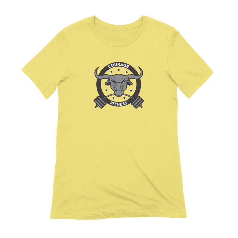 Courage Fitness B&W Women's T-Shirt by Courage Fitness Durham