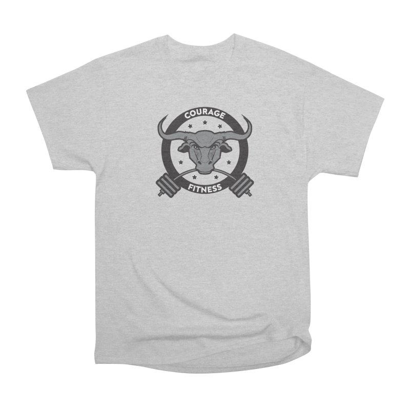 Courage Fitness B&W Men's T-Shirt by Courage Fitness Durham