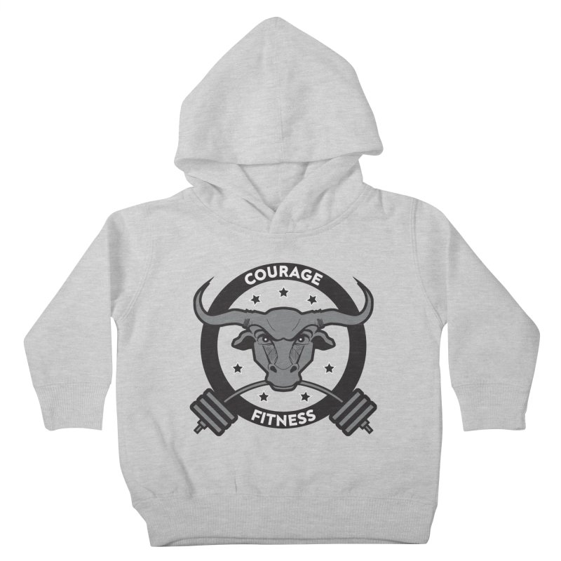 Courage Fitness B&W Kids Toddler Pullover Hoody by Courage Fitness Durham