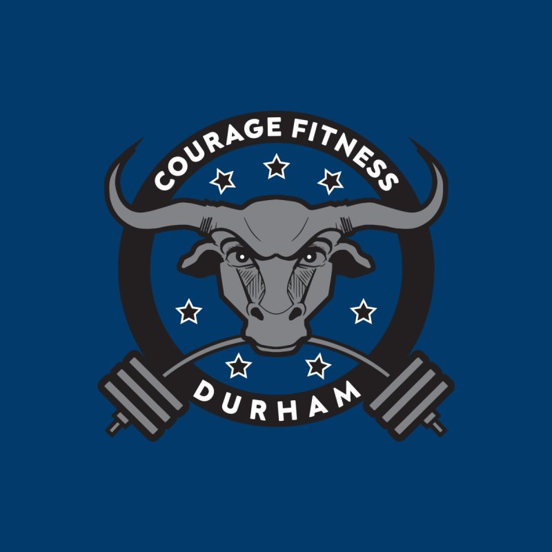 Courage Fitness Durham B&W Men's T-Shirt by Courage Fitness Durham