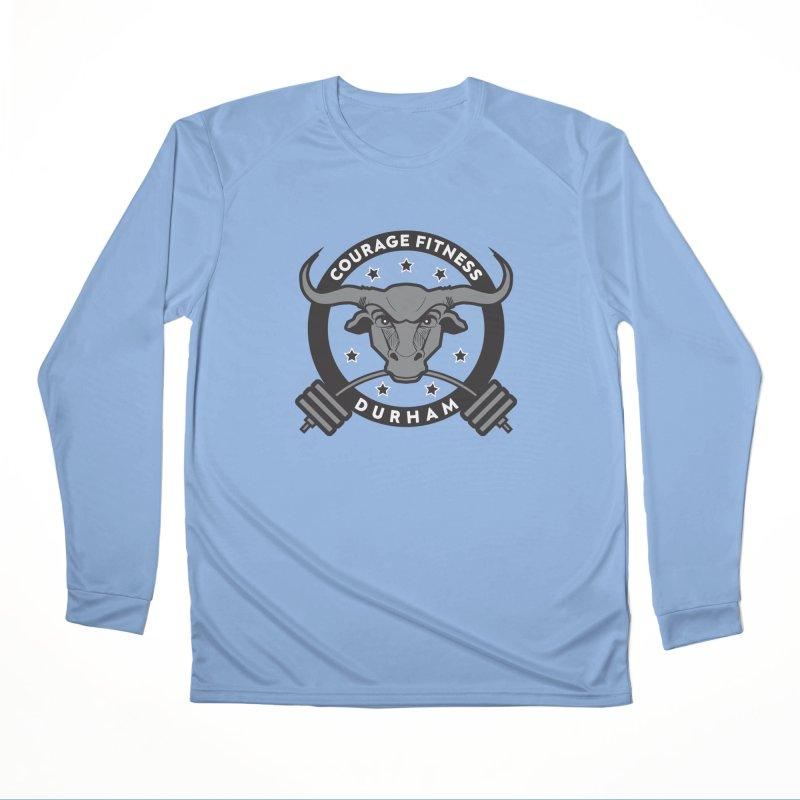Courage Fitness Durham B&W Men's Longsleeve T-Shirt by Courage Fitness Durham