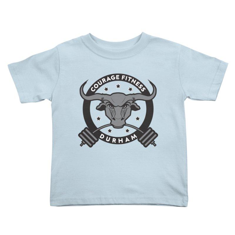 Courage Fitness Durham B&W Kids Toddler T-Shirt by Courage Fitness Durham