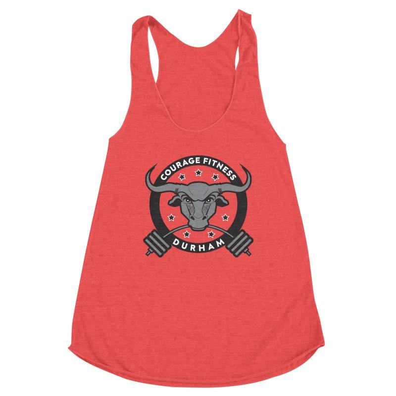 Courage Fitness Durham B&W Women's Tank by Courage Fitness Durham