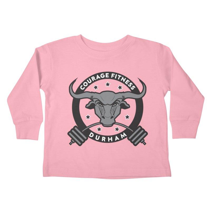 Courage Fitness Durham B&W Kids Toddler Longsleeve T-Shirt by Courage Fitness Durham