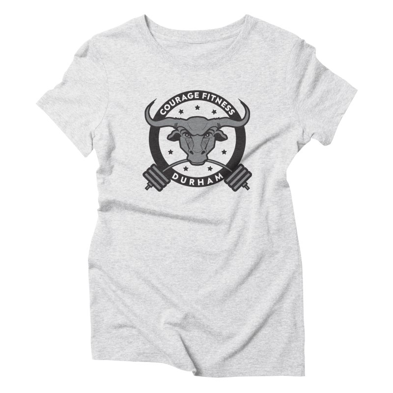 Courage Fitness Durham B&W Women's T-Shirt by Courage Fitness Durham
