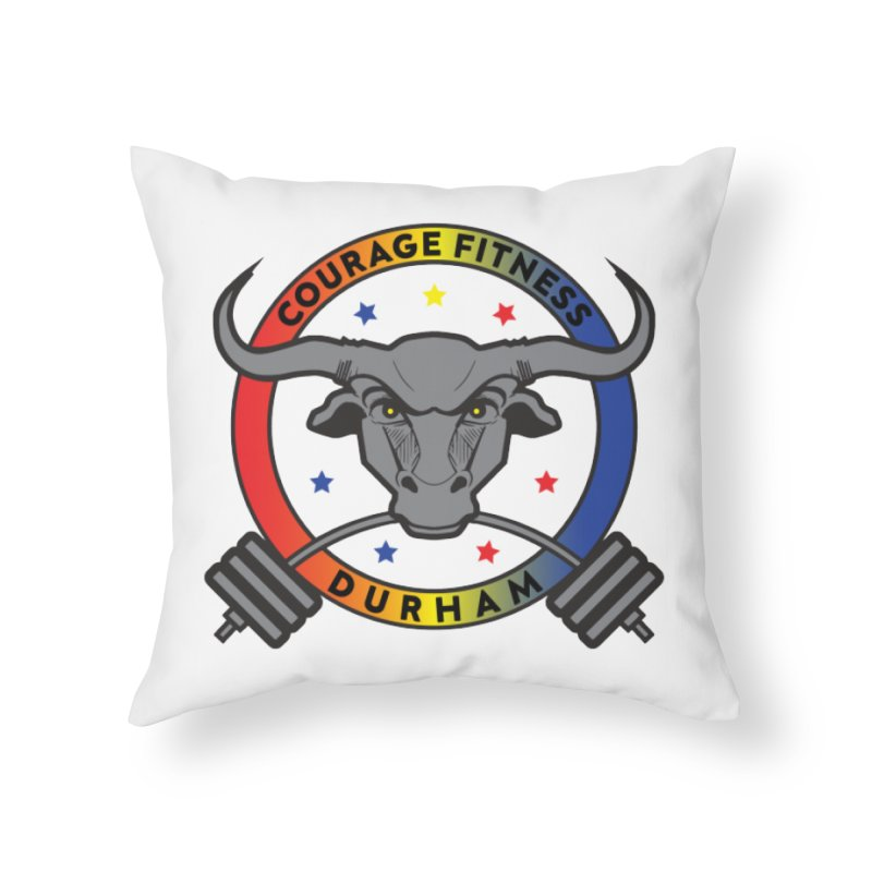 Courage Fitness Durham Color Home Throw Pillow by Courage Fitness Durham