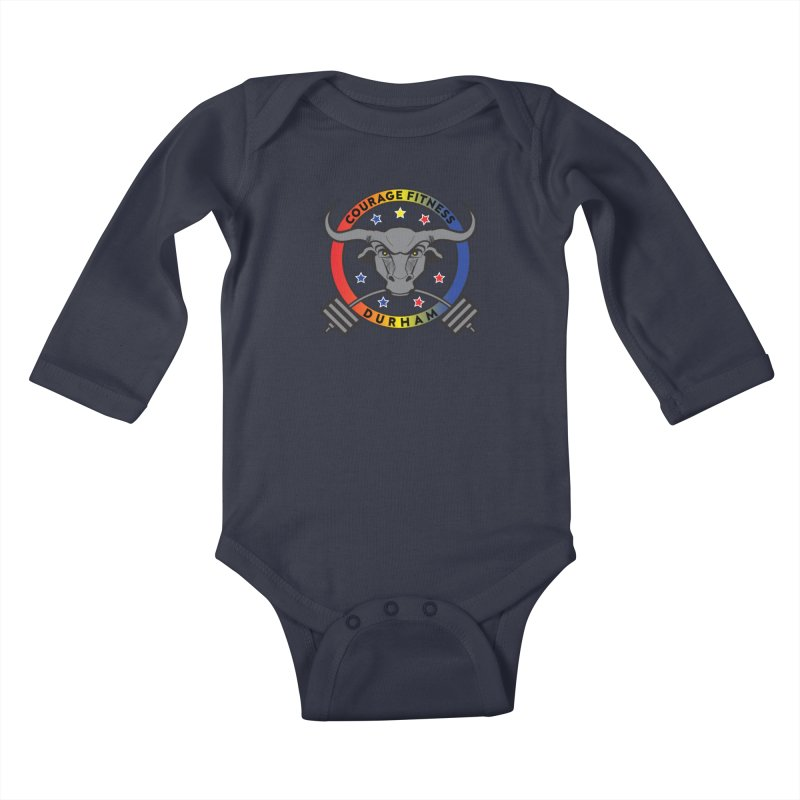 Courage Fitness Durham Color Kids Baby Longsleeve Bodysuit by Courage Fitness Durham