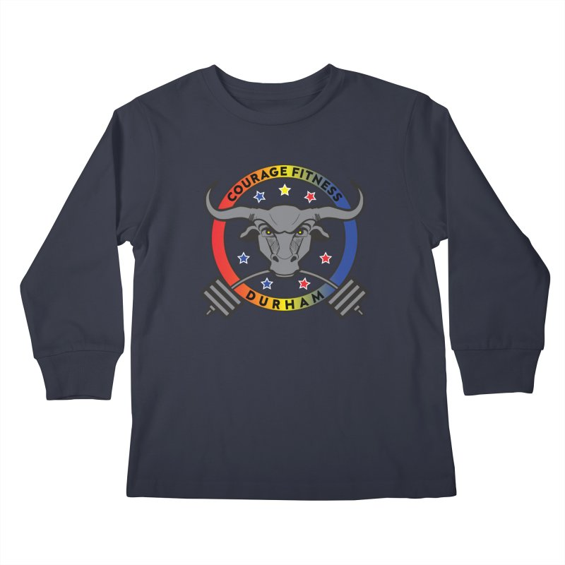 Courage Fitness Durham Color Kids Longsleeve T-Shirt by Courage Fitness Durham