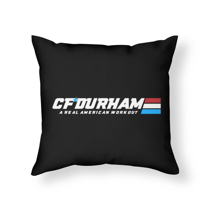 Real American Workout Home Throw Pillow by Courage Fitness Durham