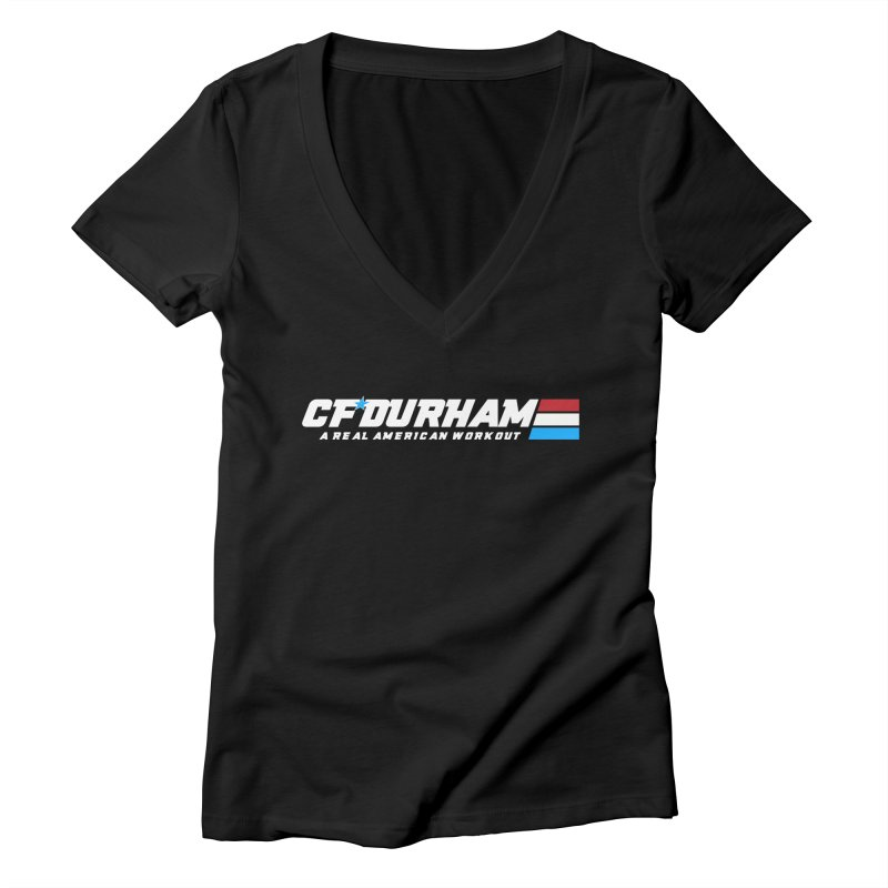 Real American Workout Women's V-Neck by Courage Fitness Durham