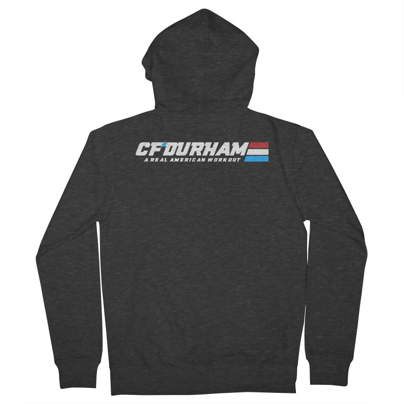 Real American Workout Men's Zip-Up Hoody by Courage Fitness Durham