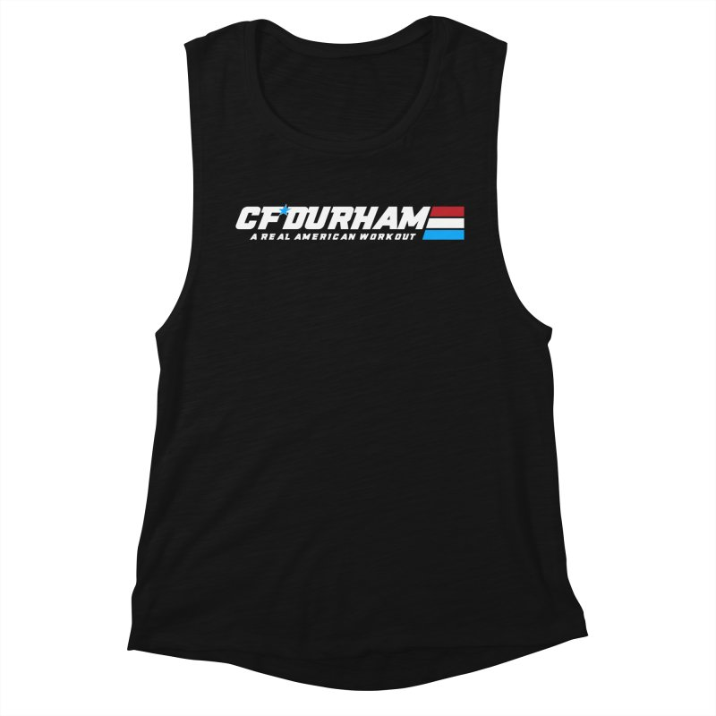 Real American Workout Women's Tank by Courage Fitness Durham