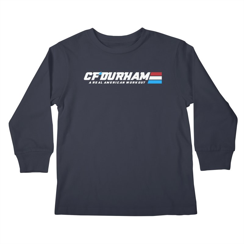 Real American Workout Kids Longsleeve T-Shirt by Courage Fitness Durham