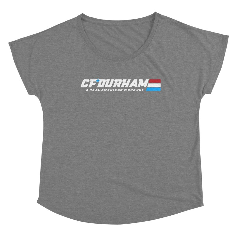 Real American Workout Women's Scoop Neck by Courage Fitness Durham