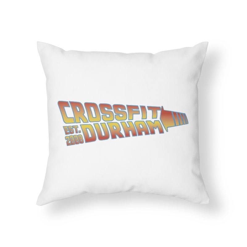 Back To The Future Home Throw Pillow by CrossFit Durham