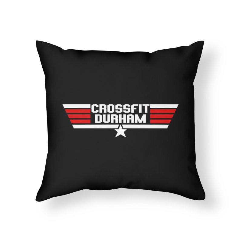 Top Gun Home Throw Pillow by CrossFit Durham