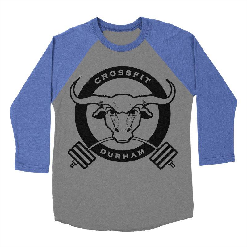 Circle Bull Men's Baseball Triblend Longsleeve T-Shirt by CrossFit Durham