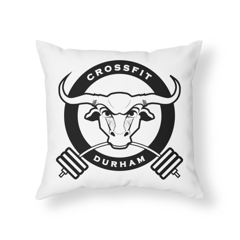 Circle Bull Home Throw Pillow by CrossFit Durham