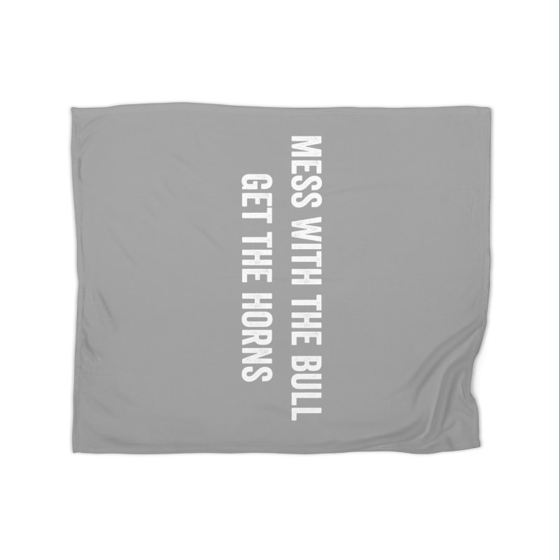 Mess With The Bull Home Fleece Blanket Blanket by CrossFit Durham