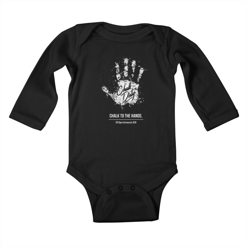 Chalk Dirty (2019 CFD Intrmurals) Kids Baby Longsleeve Bodysuit by CrossFit Durham