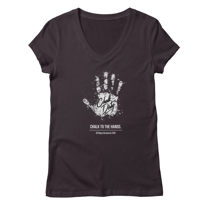 Chalk Dirty (2019 CFD Intrmurals) Women's Regular V-Neck by CrossFit Durham