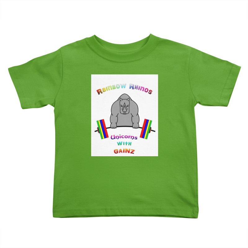 Rainbow Rhinos (2019 CFD Intramurals) Kids Toddler T-Shirt by Courage Fitness Durham