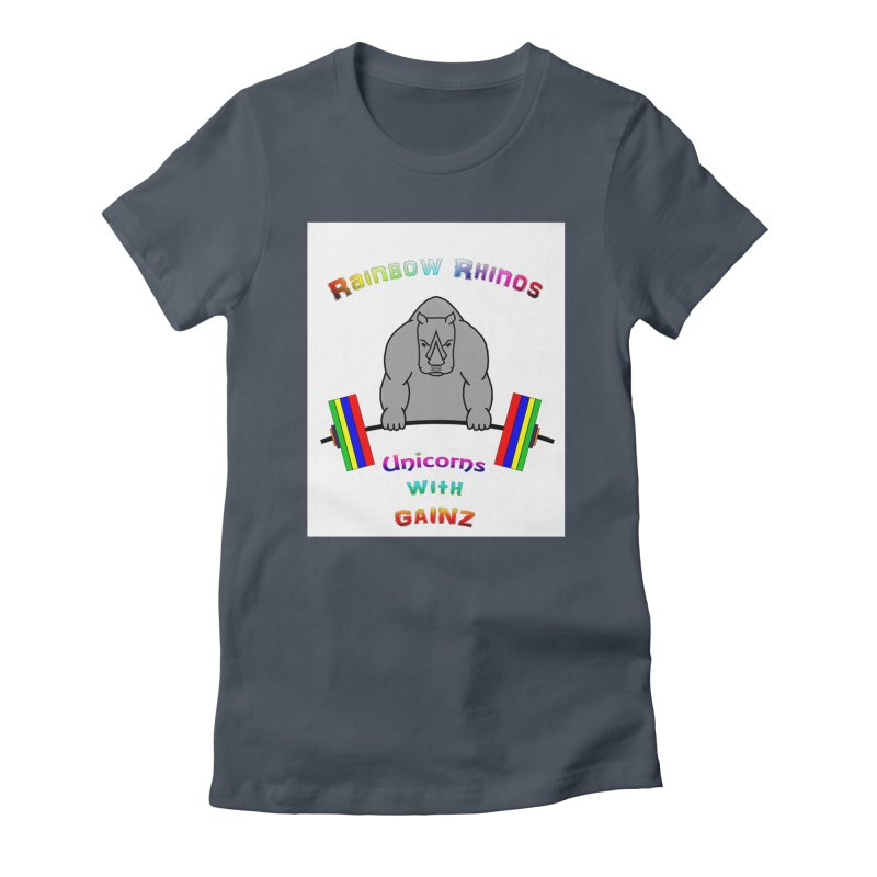 Rainbow Rhinos (2019 CFD Intramurals) Women's T-Shirt by Courage Fitness Durham