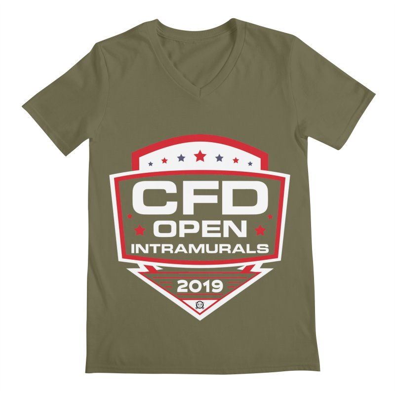 CFD Intramurals 2019 Men's Regular V-Neck by CrossFit Durham