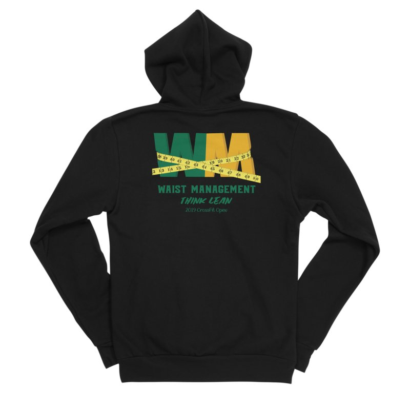 Waist Management (CFD Intramurals 2019) Women's Sponge Fleece Zip-Up Hoody by CrossFit Durham