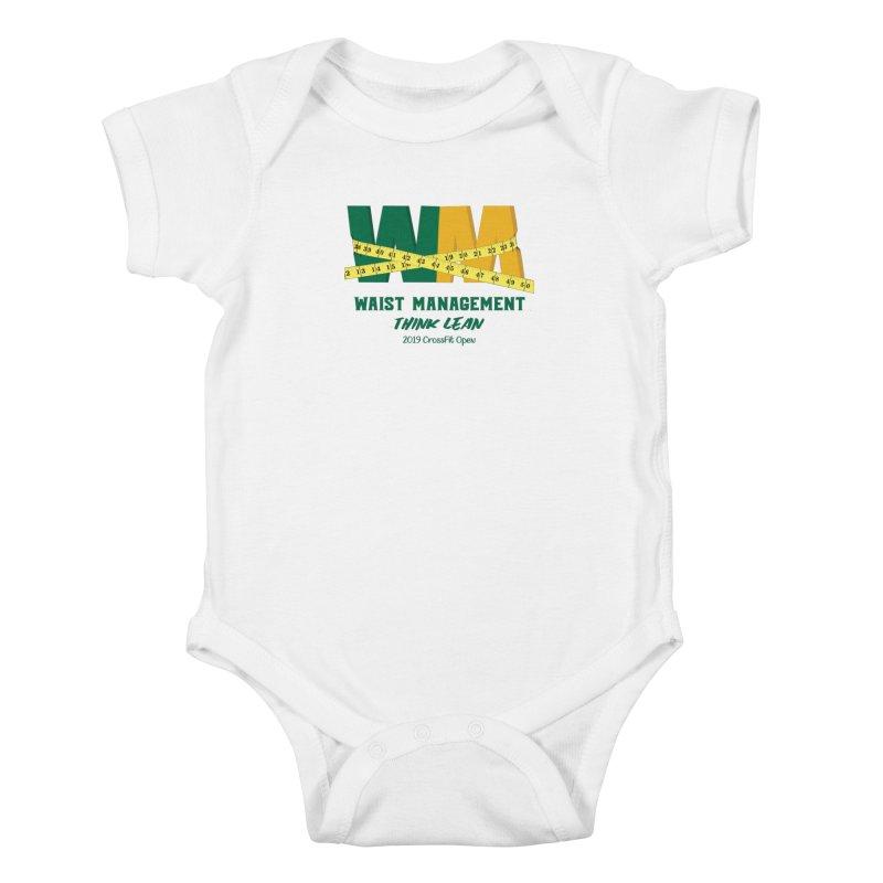 Waist Management (CFD Intramurals 2019) Kids Baby Bodysuit by CrossFit Durham