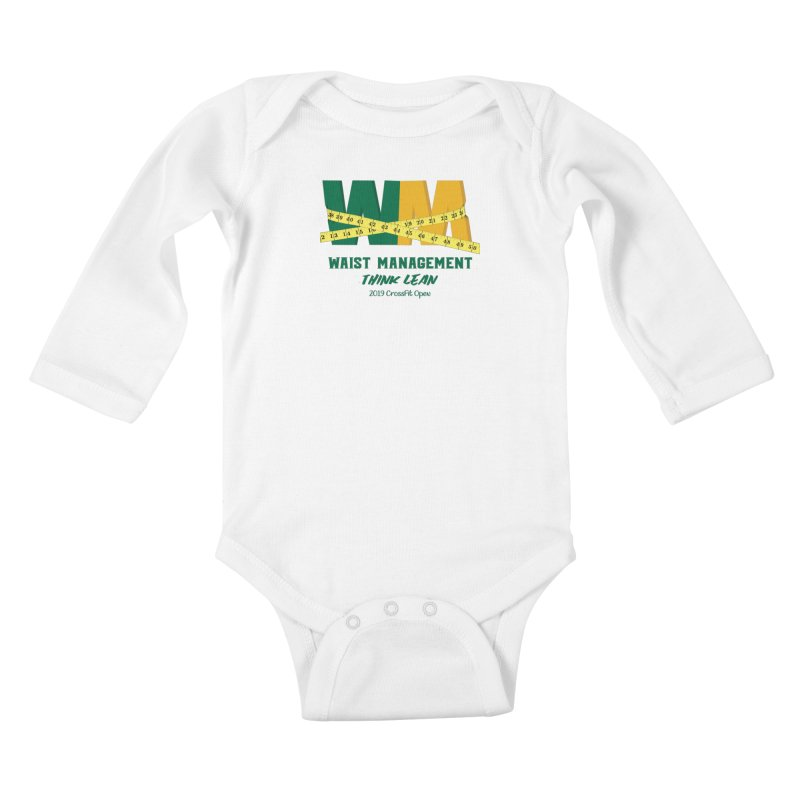 Waist Management (CFD Intramurals 2019) Kids Baby Longsleeve Bodysuit by CrossFit Durham