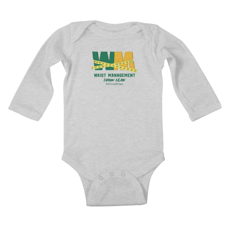 Waist Management (CFD Intramurals 2019) Kids Baby Longsleeve Bodysuit by CrossFit Durham