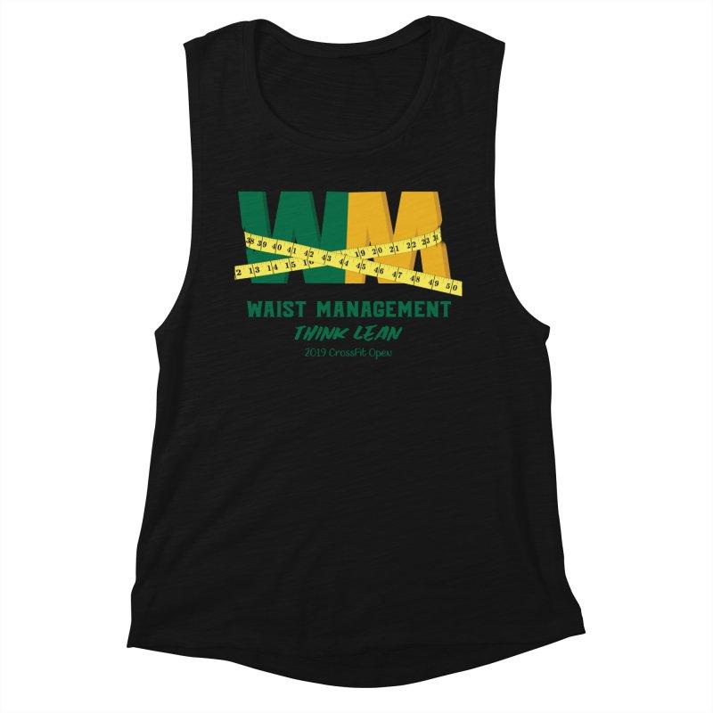 Waist Management (CFD Intramurals 2019) Women's Muscle Tank by CrossFit Durham