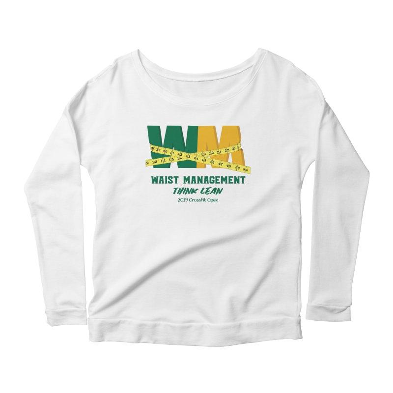 Waist Management (CFD Intramurals 2019) Women's Scoop Neck Longsleeve T-Shirt by CrossFit Durham